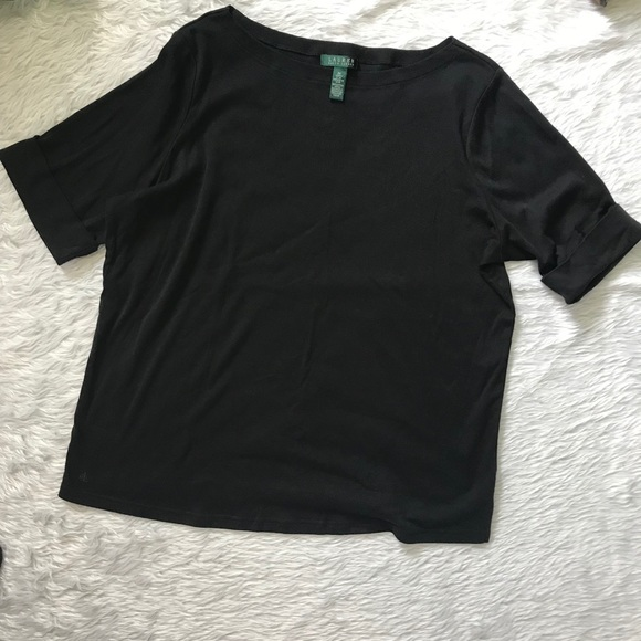 Ralph Lauren Tops - Ralph Lauren : Black Short Sleeve Blouse